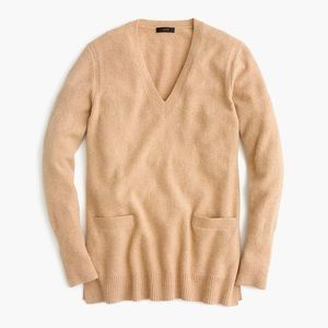 J. Crew V-neck Front-Pocket Tunic Sweater